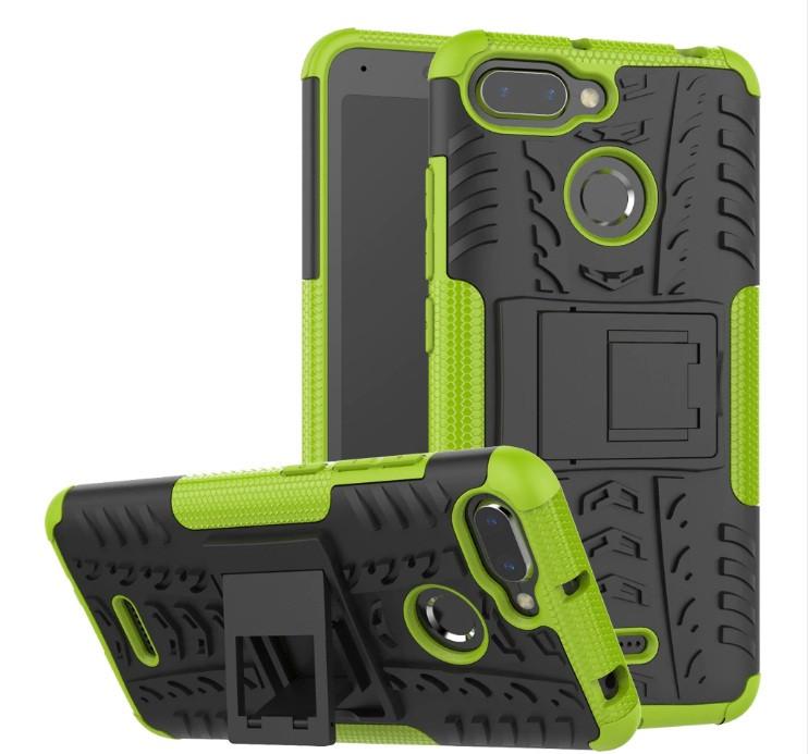 Чехол противоударный Armor для Xiaomi Redmi 6 Черно-Зеленый
