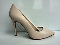 Испанские туфли лодочки ТМ ehua на высоком каблуке, натуральная кожа, фото 1