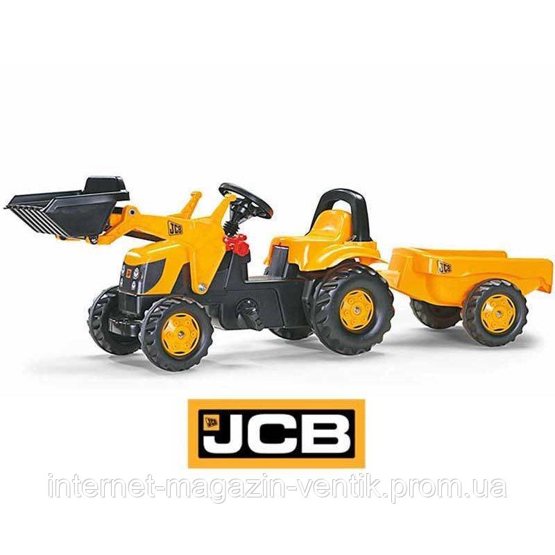 Трактор Педальный с Прицепом и Ковшом Kid JCB Rolly Toys