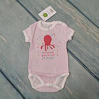 Боди футболка для новорожденного (ажур), р. 74 ТМ Smil