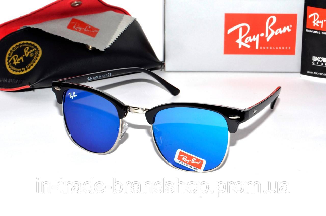 Молодежные солнцезащитные очки Ray Ban Clubmaster, очки в стиле рей бен клабмастер