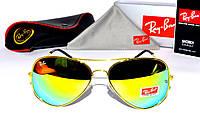 Молодежные солнцезащитные очки Ray Ban Aviator, реплика очки рей бен авиатор