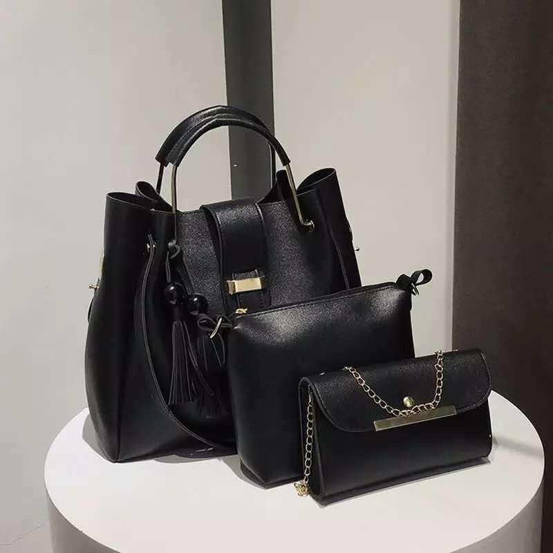 585a35c9d336 Женская сумка 3в1, экокожа PU (чёрный) - купить по лучшей цене в ...