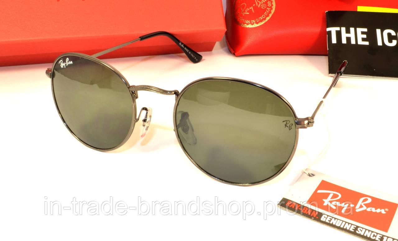 Стильные солнцезащитные очки рей бен барон, реплика круглые ray ban
