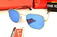 Молодежные солнцезащитные очки рей бен барон , реплика очки круглые Ray Ban