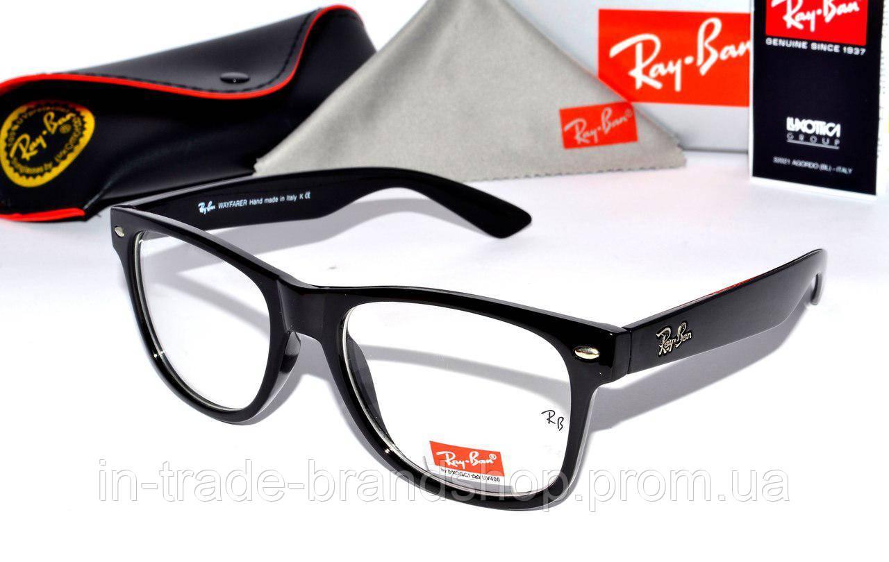 Имиджевые очки рей бен вайфарер, копия очки компьютерные  Ray Ban