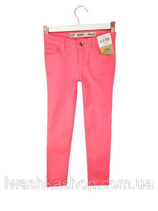 Стильні неонові рожеві джинси скінні skinny на дівчаток 4 - 5 років, р. 110, Denim&Co by Primark