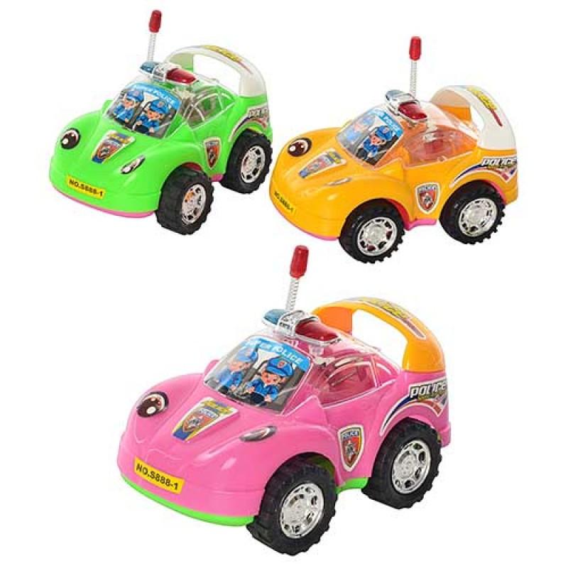 Машинка S 888-1 заводна, світло, 3 кольори, в кульку, 13-8,5-7 см