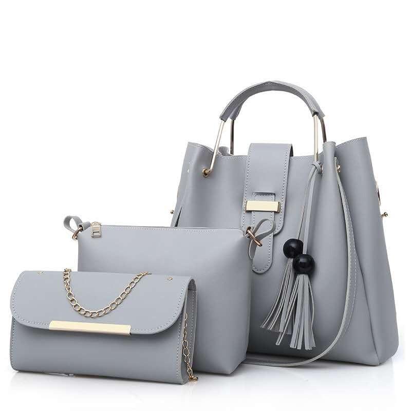 fe5dca42d6b6 Женская сумка 3в1, экокожа PU (серый) - купить по лучшей цене в ...