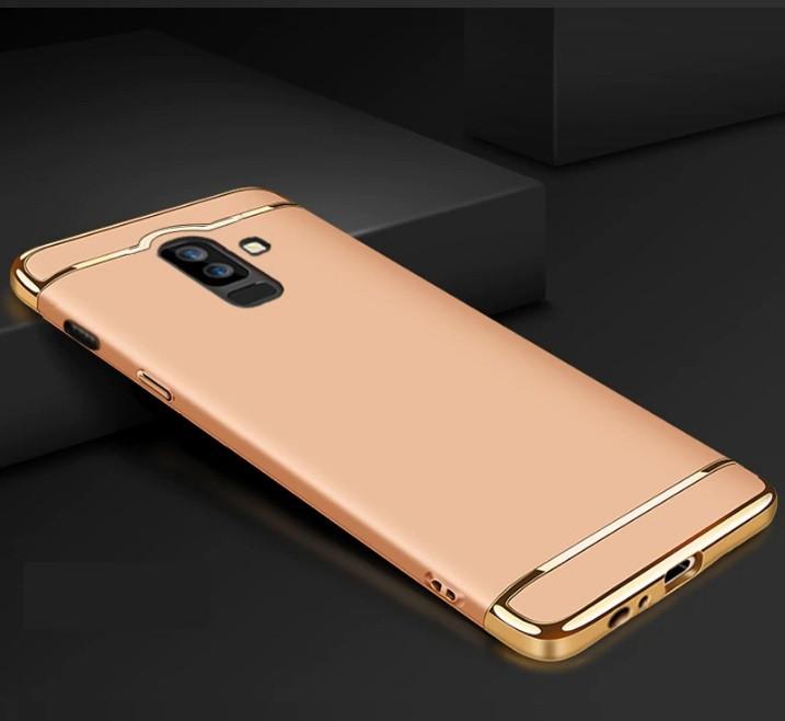 Чехол накладка с золотыми вставками для Samsung A6 Plus 2018 (2 цвета)