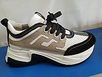 Стильные женские кожаные кроссовки Tucino