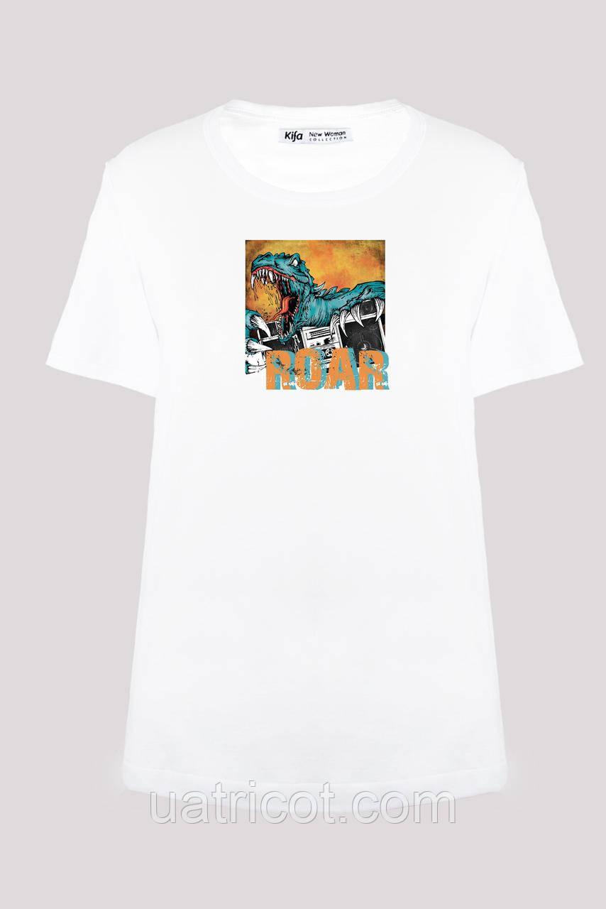Футболка женская KIFA ФЖ-017/30 ROAR белая