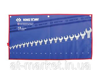 Набір ключів комбінованих King Tony 18 шт. (6-24 мм) 1218MRN