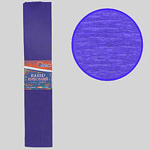 Креп-папір 35%, темно-фіолетовий 50*200см, 20г/м2, KR35-8025