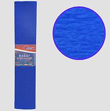 Креп-папір 35%, синій 50*200см, 20г/м2, KR35-8042