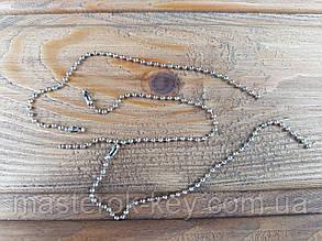 Цепочка шариковая для бирок, брелков М-1161 160мм цвет никель
