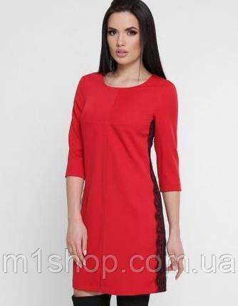 Женское платье с гипюровыми лампасми (Terryfup), фото 2