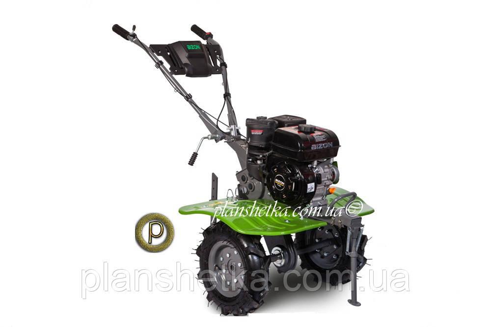 Бензиновый мотоблок BIZON 900 LUX (зеленый цвет)