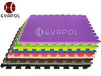 Мягкий пол пазл детский коврик КВАДРО 1 элемент 600*600*10 мм