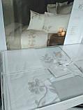 Комплект постельного белья сатин с вышивкой и кружевом Тм Pupilla Salda, фото 4