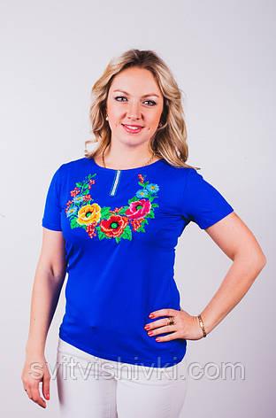Женская вышитая футболка с цветочным ожерельем, фото 2