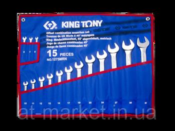 Набір ключів комбінованих King Tony 15 шт. (6-32 мм) 1215MRN02