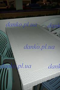 Стол OW-T209R SPRING белый 140*80, искусственный ротанг
