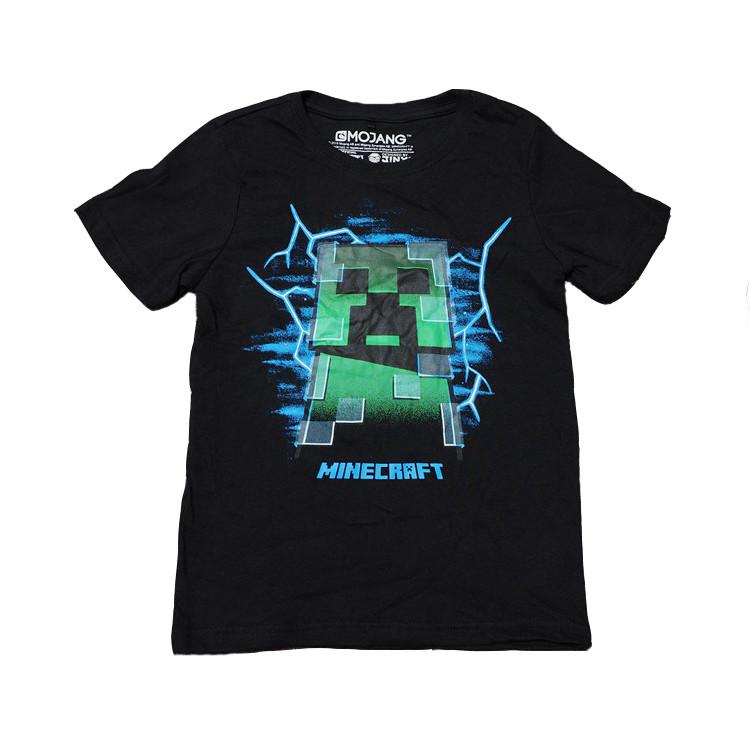 Футболка Minecraft Заряженый Кріпер Mojang чорна