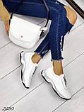 Женские кроссовки слипоны из натуральной кожи красные, белые, черные, фото 6