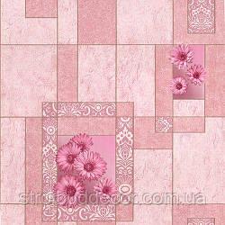 Шпалери паперові мийка Шарм 0,53*10,05 кухня рожеві