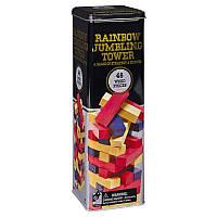 Настольная игра Spin Master Дженга с цветными брусочками в жестяной коробке (SM98365/6033150)