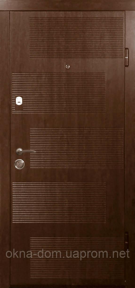 """Входная дверь """"МИНИСТЕРСТВО ДВЕРЕЙ"""" ПK-18 V Дуб темный Vinorit"""