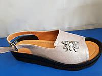 Женские кожаные сандалии, фото 1