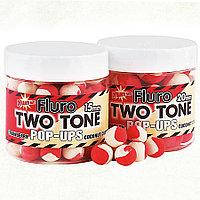 Бойлы Dynamite Baits Two Tone Strawberry&Coconut Cream Fluro Pop-Ups 15mm 100g