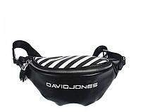 Женская сумка на пояс бананка David Jones (965) черная