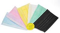 Одноразовые мeдицинские трехслойные маски, 50 шт (разные цвета)