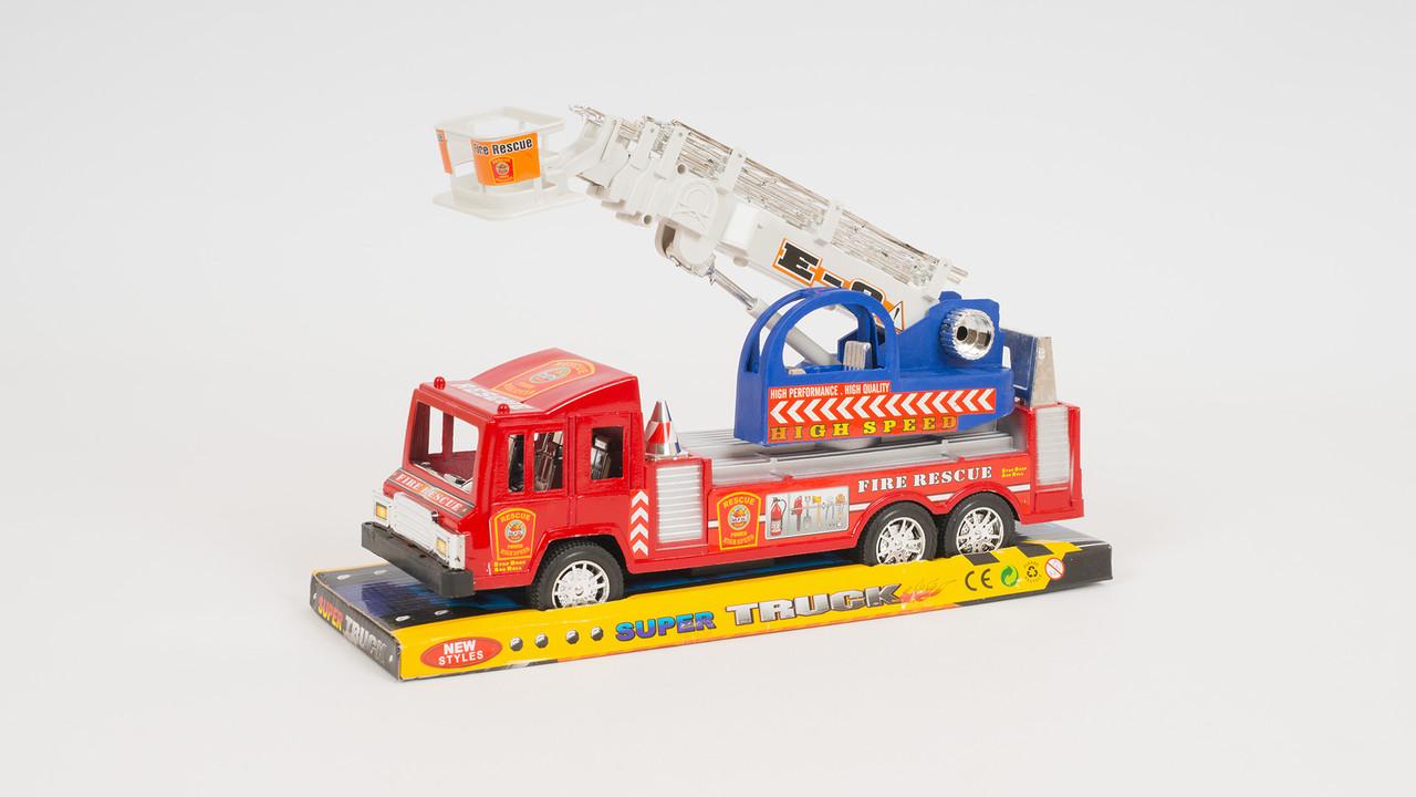 Пожарная машина - инерционная. С подвижными деталями