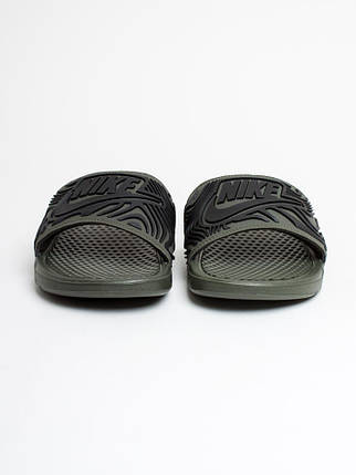 Тапочки мужские спортивные Nike Benassi JDI SE AJ6745-300 Зеленый, фото 2