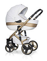 Детская универсальная коляска 2 в 1 Riko Brano Ecco Gold 01 White