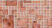 Обои бумажные мойка  Шарм 0,53*10,05 в клетку для кухни, коридор коричневые