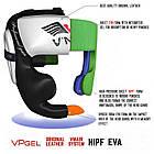 Боксерский шлем V`Noks Aria White L, фото 4