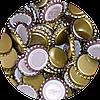 Пивная пробка металическая, золотая (EU), 500шт.