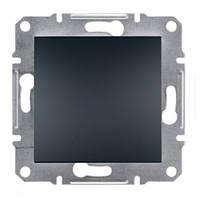 Кнопочный выключатель антрацит Asfora Schneider electric EPH0700171