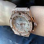 Стильные женские наручные часы Hublot черные (реплика), фото 2