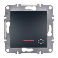 Прохідний Вимикач з підсвіткою антрацит Asfora Schneider electric EPH1500171