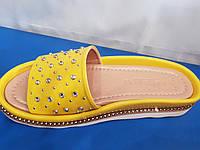 Женские кожаные шлепанцы Mario Muzi Турция