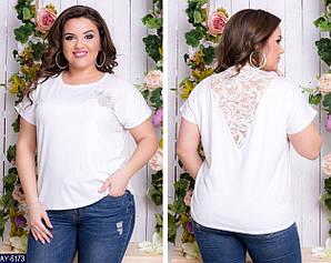 Элегантная футболка женская 48-54