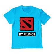 Футболка детская с принтом Dota 2 My Religion