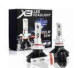 Комплект Автомобильных Ламп светодиодные X3 Lead Headlight H4 50W IP67 3000K/6500K/8000K 2 шт головной свет, фото 4