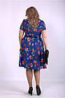 Синее платье летнее с тюльпанами большой размер 42-74. 01139-2, фото 4